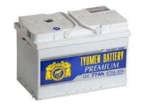 Аккумулятор Тюмень 6СТ-77 А/ч PREMIUM обратная полярность
