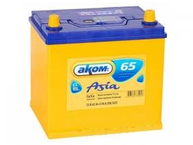 Аккумулятор АКОМ 6СТ-65 а/ч обратная полярность (азия)