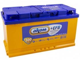 Аккумулятор АКОМ EFB 6СТ-100 А/ч прямая полярность