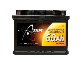 АКБ Atom 6СТ-60 А/ч обратная полярность