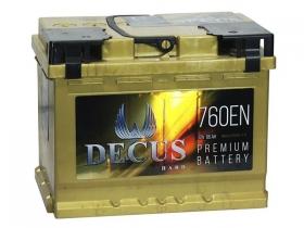 Аккумулятор DECUS 6СТ-66 а/ч золото прямая полярность