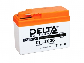 Мото аккумулятор Delta CT-12026 (YTR4A-BS)