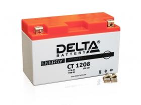 Мото аккумулятор Delta CT-1208 (YT7B-BS, YT7B-4, YT9B-BS)