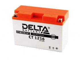 Мото аккумулятор Delta CT-1216 (YB16AL-A2)