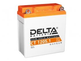 Мото аккумулятор Delta CT-1205.1