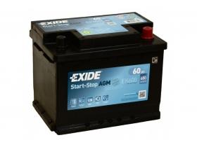Аккумулятор EXIDE START&STOP AGM 60 а/ч обратная полярность Аккумулятор EXIDE START&STOP AGM 60 а/ч обратная полярность (EK600)