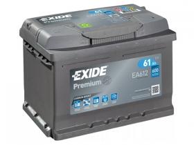 Аккумулятор EXIDE Premium 61 а/ч обратная полярность (EA612)