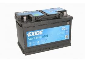 Аккумулятор EXIDE START&STOP AGM 70 а/ч обратная полярность (EK700)