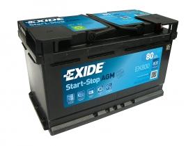 Аккумулятор EXIDE START&STOP AGM 80 а/ч обратная полярность (EK800)