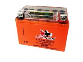 Мото аккумулятор Maxinter 12V 4А/ч с индикатором