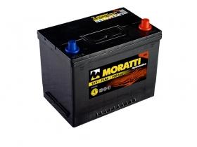 Авто аккумулятор Moratti 6СТ- 75 А/ч, обратная полярность, Asia