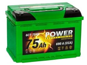 АКБ Power 75 А/ч обратная