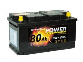 АКБ Power 80 А/ч низкий