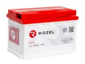 АКБ Ridzel 75 А/ч обратная  полярность