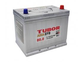 Аккумулятор TUBOR ASIA EFB 80 а/ч обратная полярность