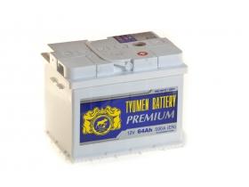 Аккумулятор Тюмень 6СТ-64 А/ч обратная полярность PREMIUM