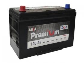 Аккумулятор ZION Premium 6СТ-100 А/ч прямая полярность (азия)
