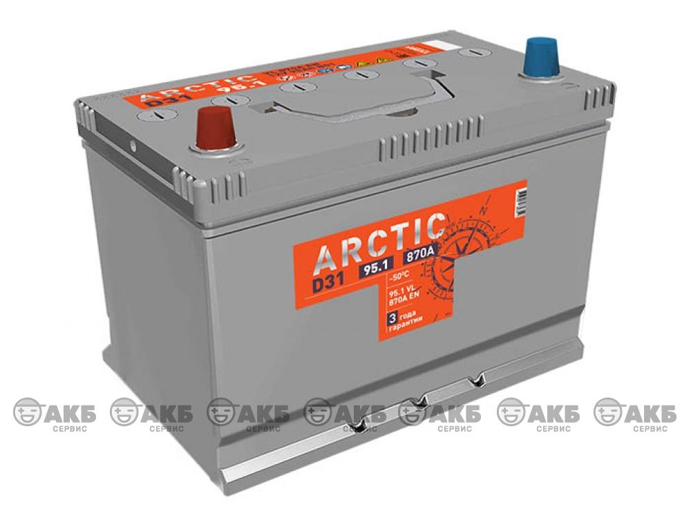Аккумулятор TUBOR ARCTIC ASIA 95 а/ч прямая полярность