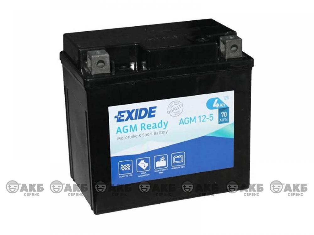Аккумулятор EXIDE AGM 12-5, 70A