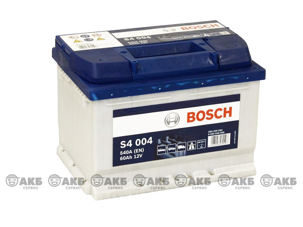 BOSCH S4 Silver 60 А/ч о.п. низк. (S4 004)