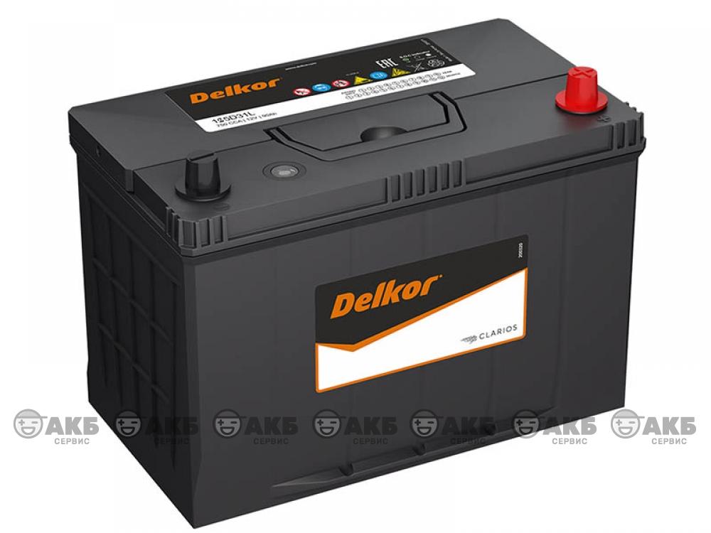 Аккумулятор Delkor 105 А/ч обратная полярность Asia (125D31L)