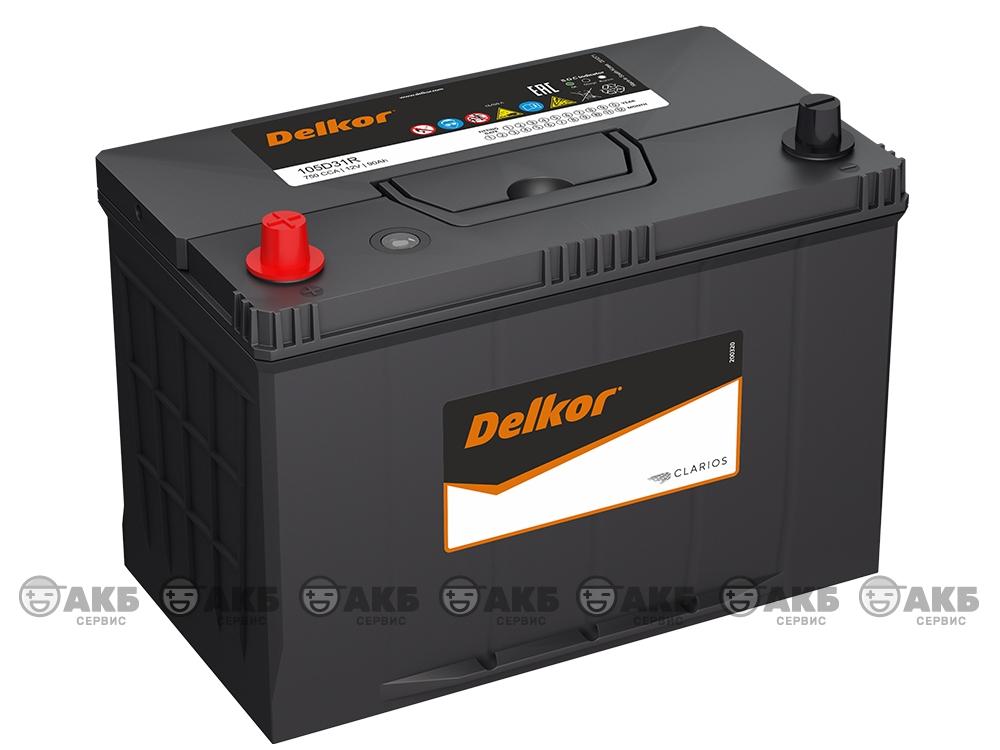 Аккумулятор Delkor 90 А/ч. прямая полярность (Asia) (105D31R)