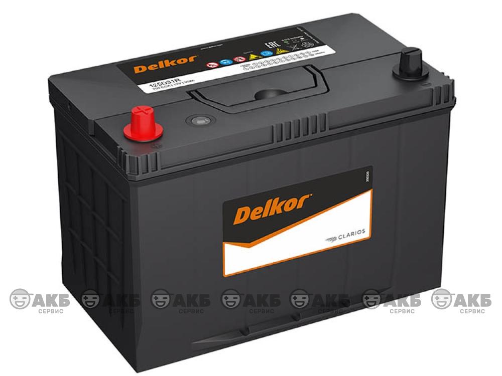 Аккумулятор Delkor 105 А/ч. прямая полярность Asia (125D31R)