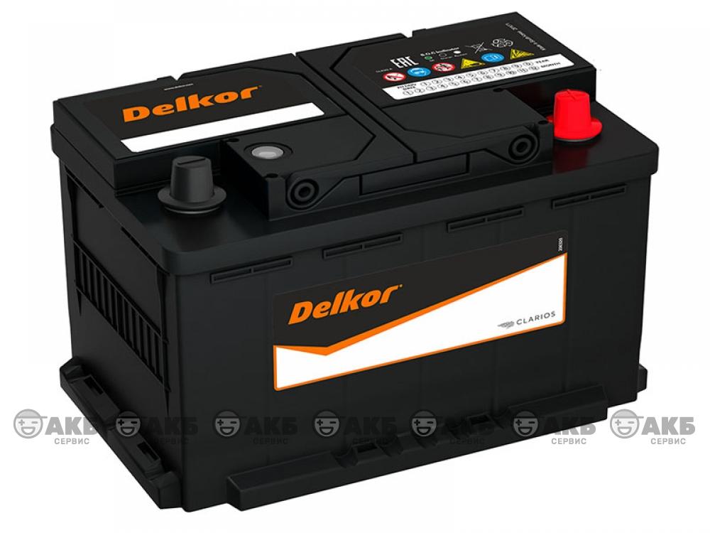 Аккумулятор Delkor 80 А/ч.обратная полярность (58014)