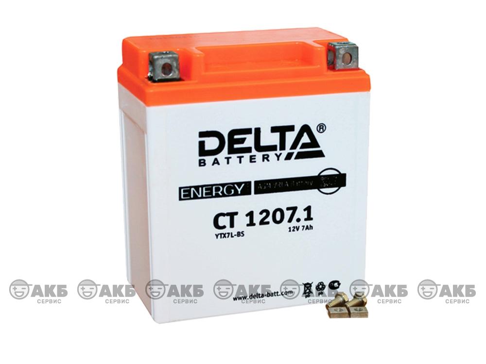 мото аккумулятор Delta CT-1207.1