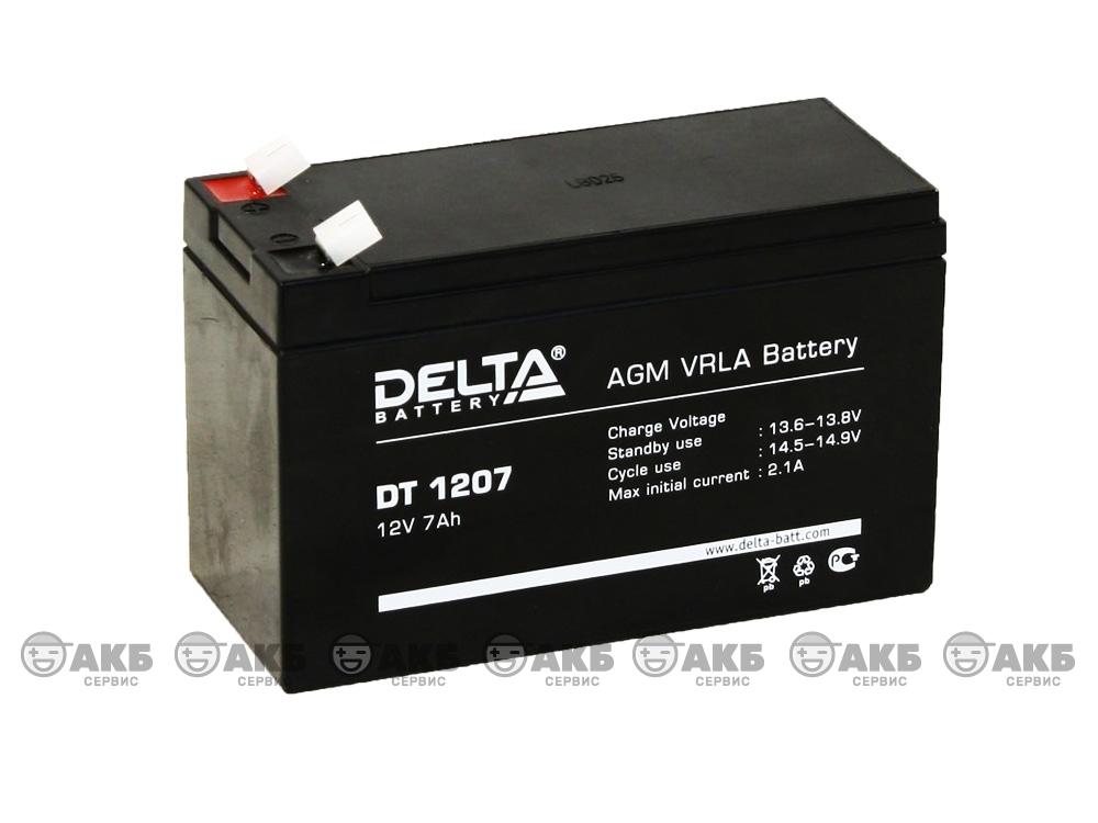 Аккумулятор для источника бесперебойного питания Delta DT 1207