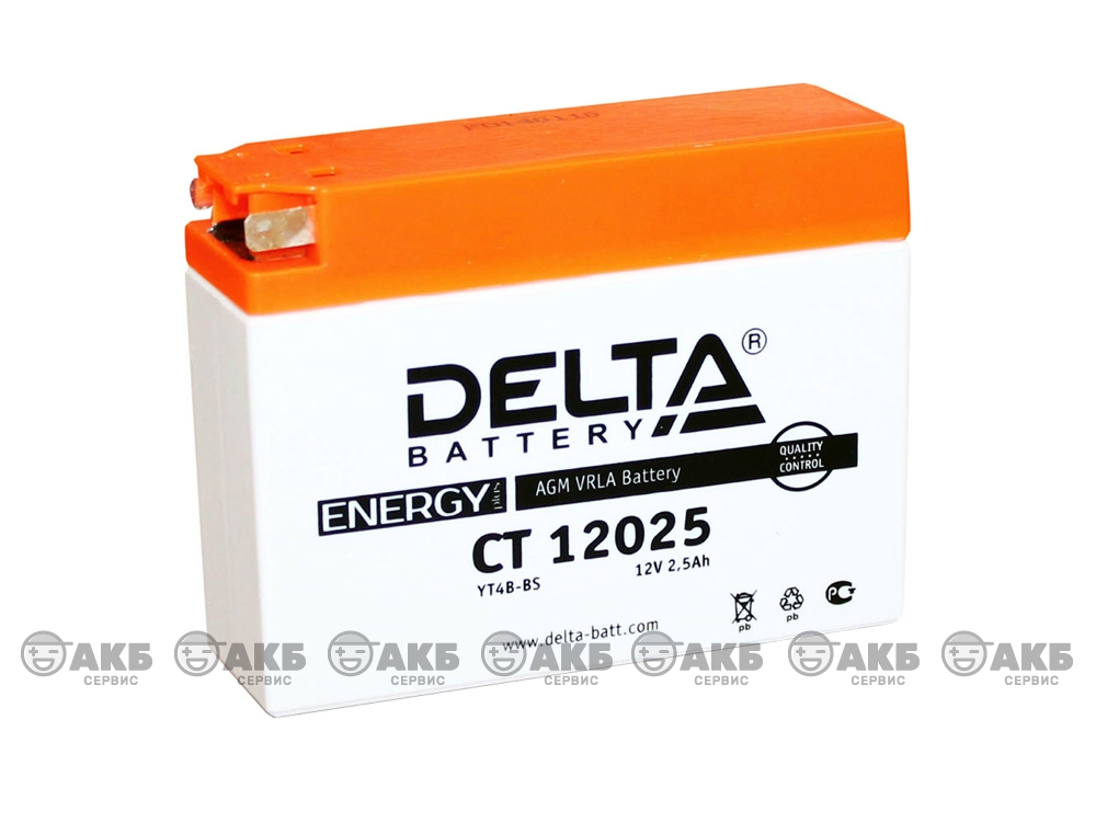 Мото аккумулятор Delta CT-12025 (YT4B-BS)