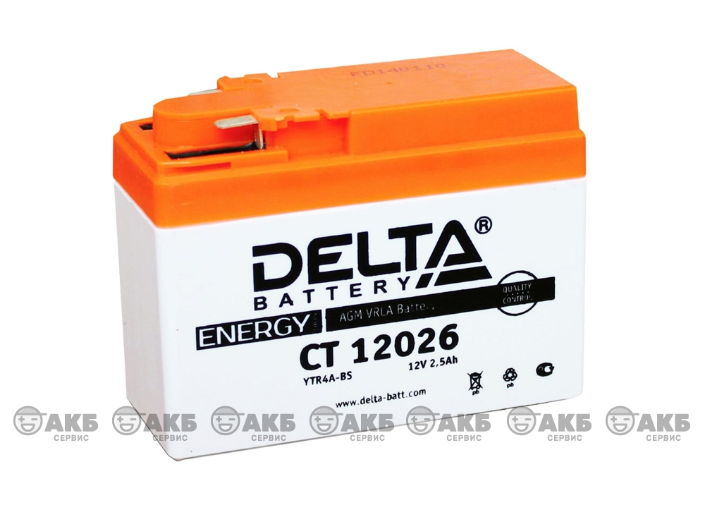 Мото аккумулятор Delta CT-12026