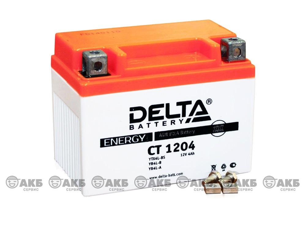 Мото аккумулятор Delta CT-1204 (YTX4L-BS, YB4L-B, YB4L-A)
