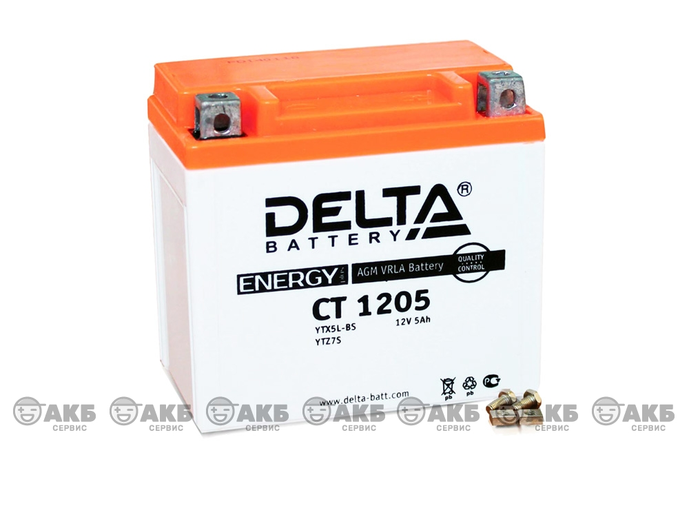 Мото аккумулятор Delta CT-1205 (YTX5L-BS, YTZ7S)