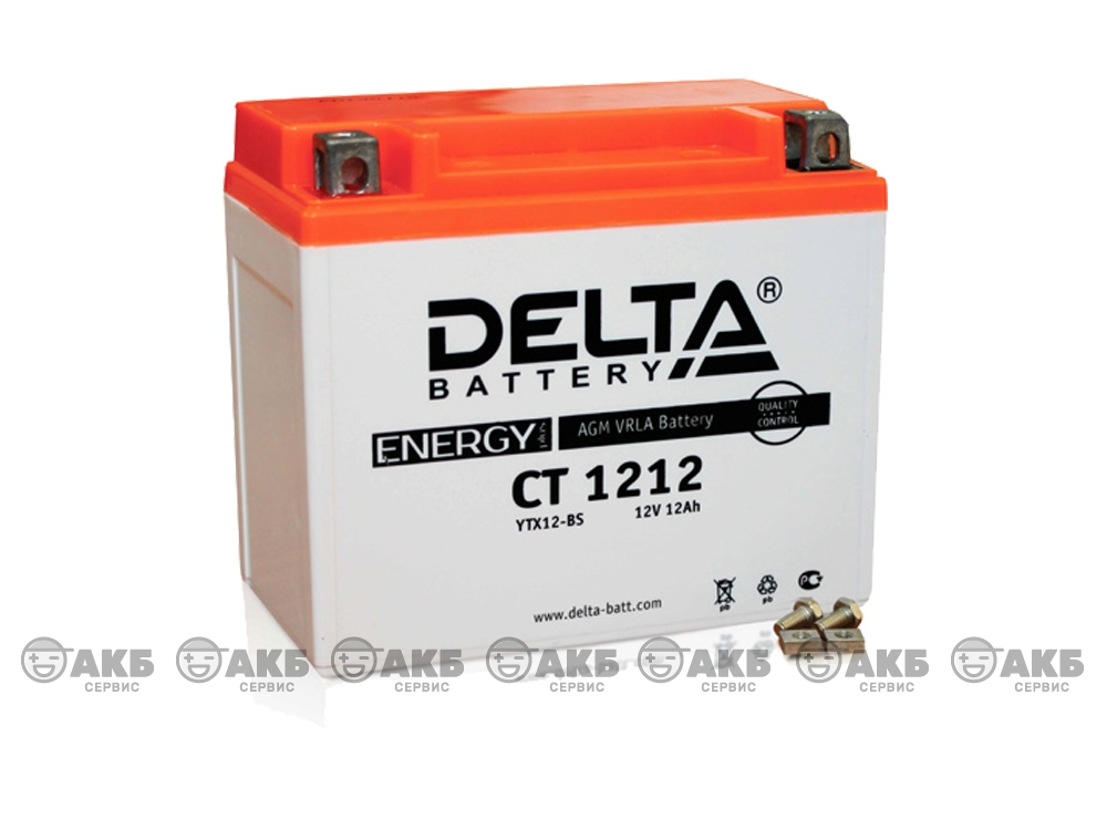 Мото аккумулятор Delta CT-1212