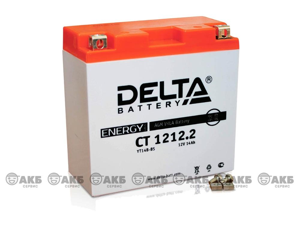 Мото аккумулятор Delta CT-1212.2