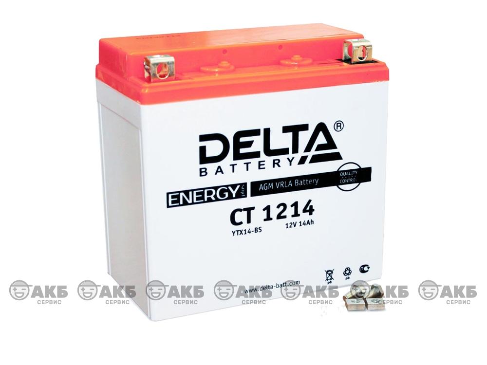 Мото аккумулятор Delta CT-1214