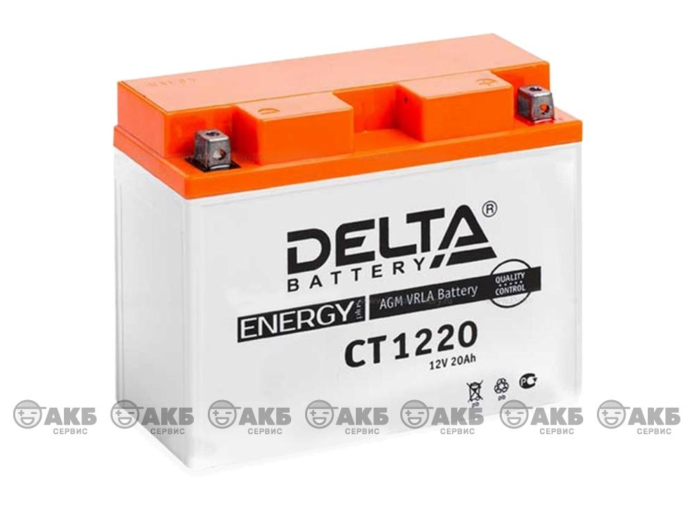 Мото аккумулятор Delta CT-1220