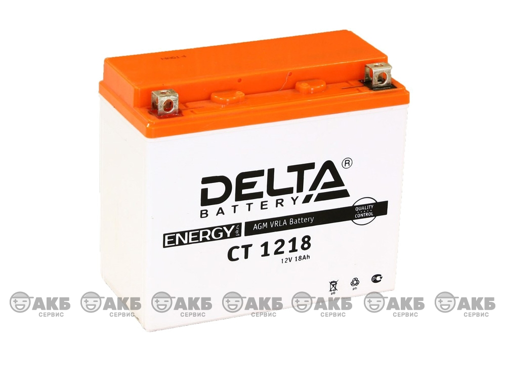 Аккумулятор Delta CT-1218 (YTX20-BS, YTX20H, YB16-B-CX, YB16-B, YB18-A)