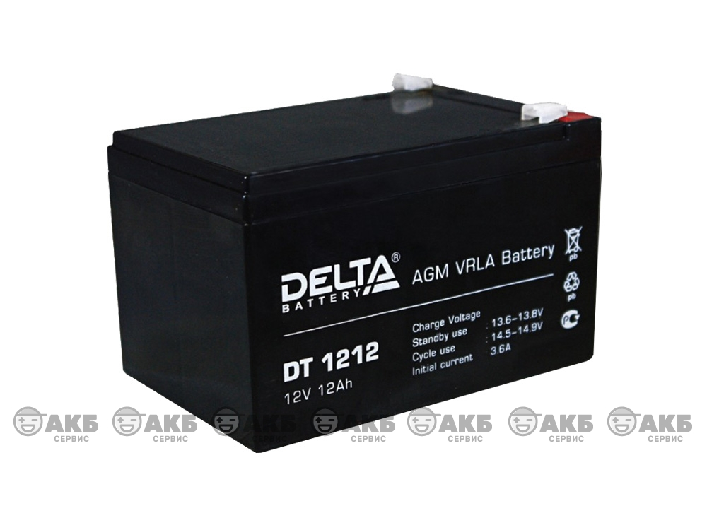Аккумулятор для источника бесперебойного питания Delta DT 1212