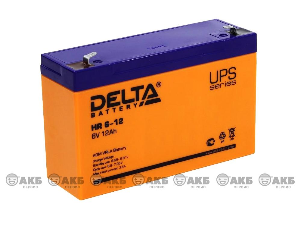 Аккумулятор для источника бесперебойного питания  DELTA HR 6-12
