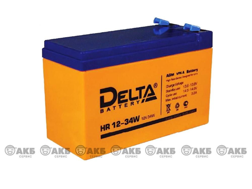 Аккумулятор для источника бесперебойного питания  DELTA HR 12-34W