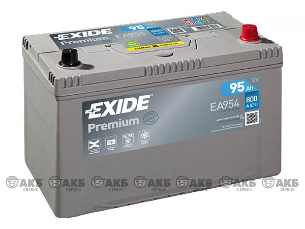Аккумулятор EXIDE PREMIUM 95 а/ч обратная полярность (EA954) азия
