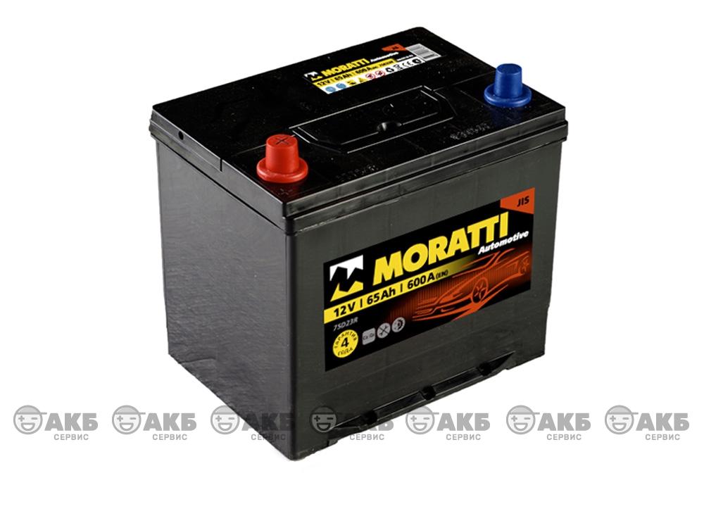Moratti 6СТ- 65 А/ч, прямая полярность, Asia