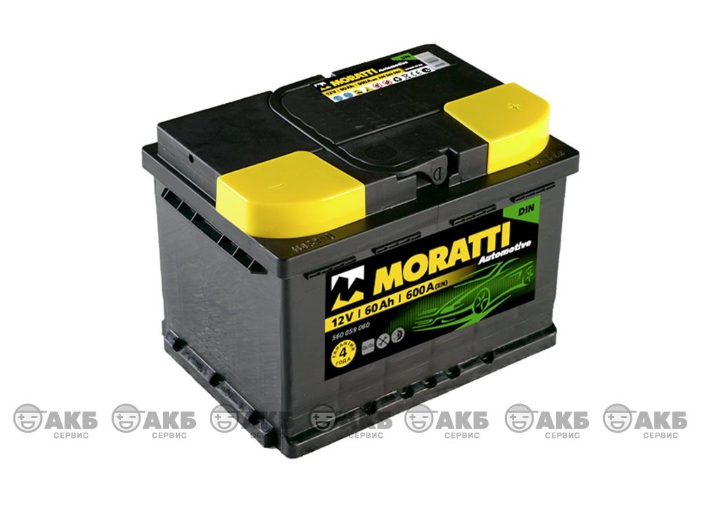 Авто аккумулятор Moratti 6СТ- 60 А/ч о.п.