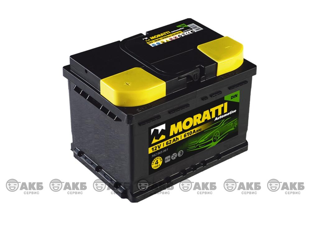 Авто аккумулятор Moratti 6СТ- 62 А/ч