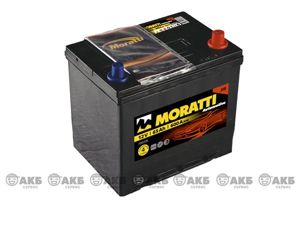 Авто аккумулятор Moratti 6СТ- 65 А/ч, обратная полярность, Asia