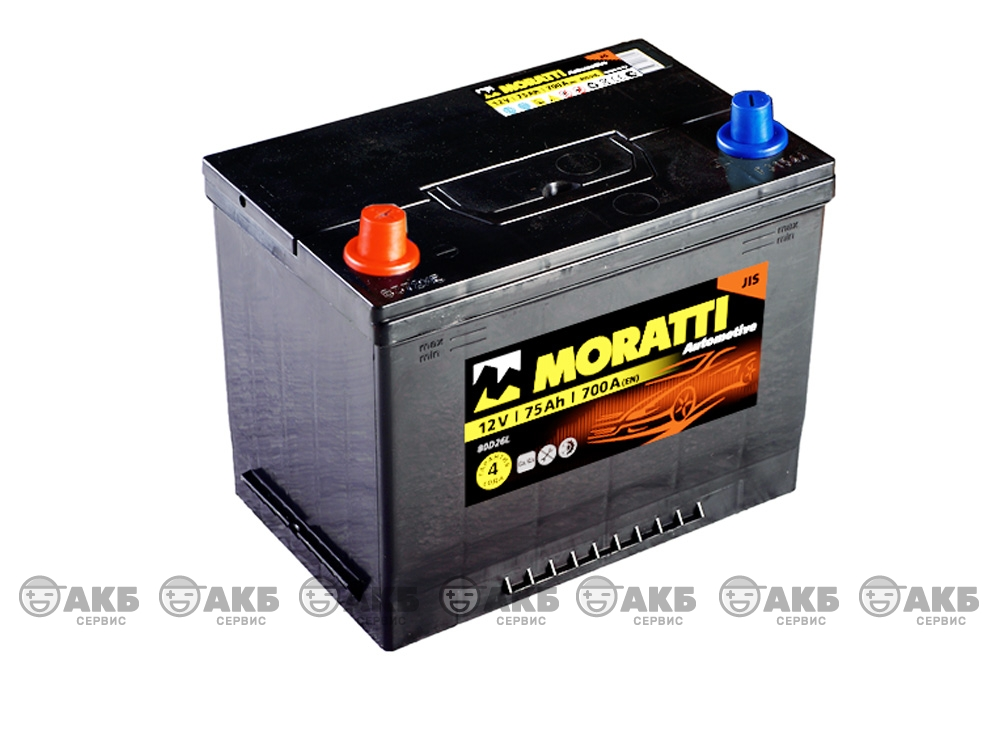 Авто аккумулятор Moratti 6СТ- 75 А/ч