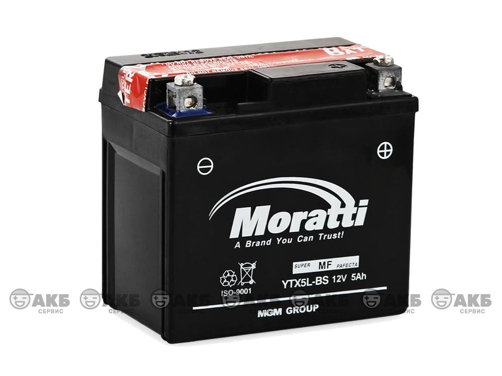 Аккумулятор MORATTI YTX5L-BS