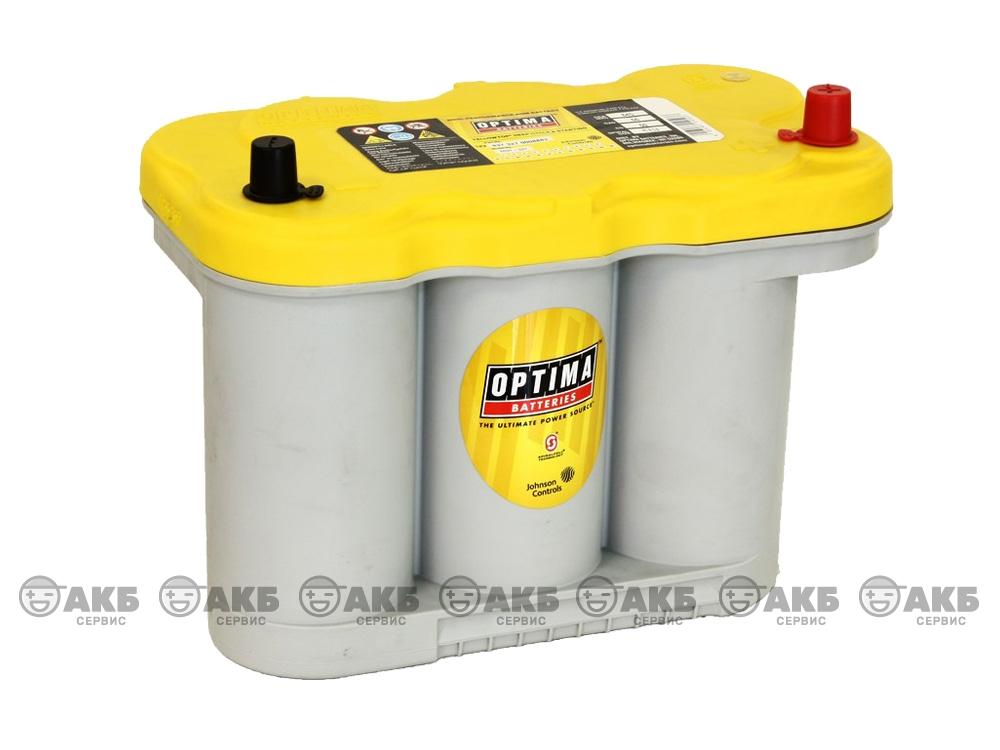 Авто аккумулятор Optima 66А/ч, обратная полярность YellowTop R 5.0L